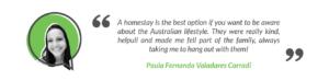 SayStay Homestay Student Testimonial - Paula