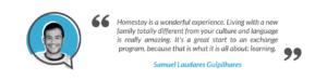 SayStay Homestay Student Testimonial - Samuel